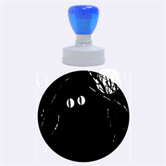 Black cat - Halloween Rubber Round Stamps (Large)