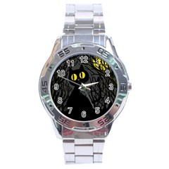 Black cat - Halloween Stainless Steel Analogue Watch