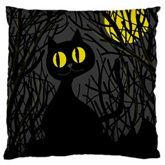 Black cat - Halloween Large Cushion Case (Two Sides)