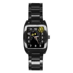 Black cat - Halloween Stainless Steel Barrel Watch