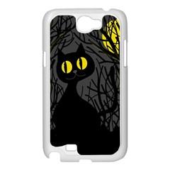 Black cat - Halloween Samsung Galaxy Note 2 Case (White)