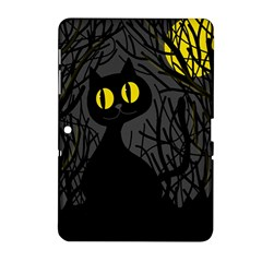 Black cat - Halloween Samsung Galaxy Tab 2 (10.1 ) P5100 Hardshell Case