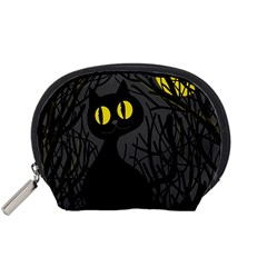 Black cat - Halloween Accessory Pouches (Small)