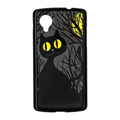 Black cat - Halloween Nexus 5 Case (Black)