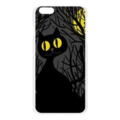 Black cat - Halloween Apple Seamless iPhone 6 Plus/6S Plus Case (Transparent)