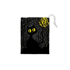 Black cat - Halloween Drawstring Pouches (XS)