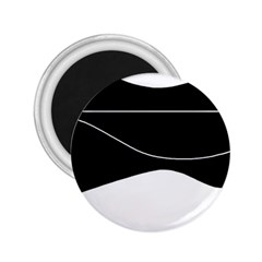 Black and white 2.25  Magnets