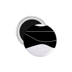 Black and white 1.75  Magnets