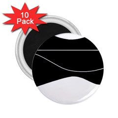 Black and white 2.25  Magnets (10 pack)