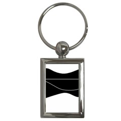 Black and white Key Chains (Rectangle)