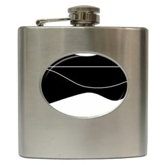 Black and white Hip Flask (6 oz)