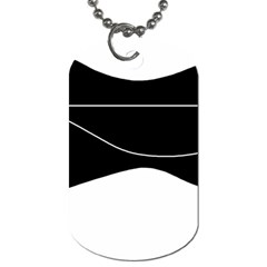 Black and white Dog Tag (Two Sides)