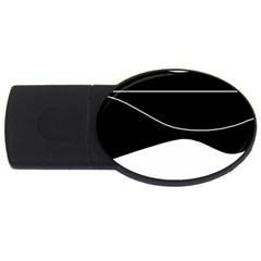 Black and white USB Flash Drive Oval (1 GB)