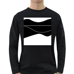 Black and white Long Sleeve Dark T-Shirts