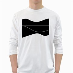 Black and white White Long Sleeve T-Shirts
