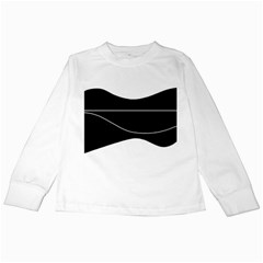Black and white Kids Long Sleeve T-Shirts