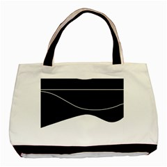 Black and white Basic Tote Bag (Two Sides)