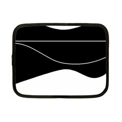 Black and white Netbook Case (Small)