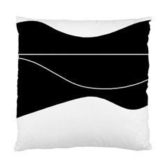 Black and white Standard Cushion Case (One Side)