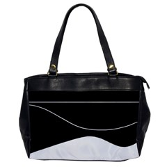Black and white Office Handbags
