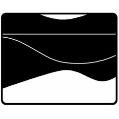Black and white Fleece Blanket (Medium)