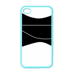 Black and white Apple iPhone 4 Case (Color)
