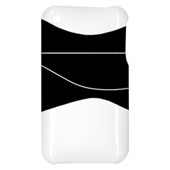 Black and white Apple iPhone 3G/3GS Hardshell Case