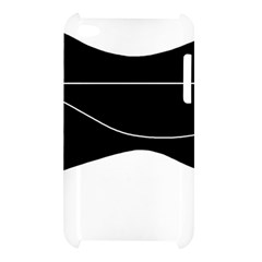 Black and white Apple iPod Touch 4
