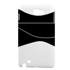 Black and white Samsung Galaxy Note 1 Hardshell Case