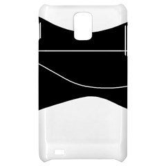 Black and white Samsung Infuse 4G Hardshell Case