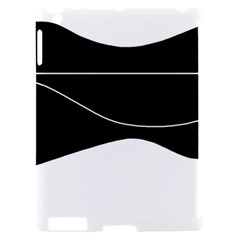 Black and white Apple iPad 2 Hardshell Case (Compatible with Smart Cover)