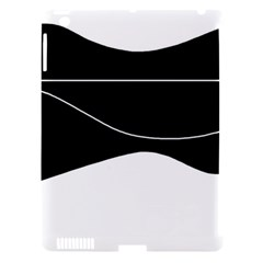 Black and white Apple iPad 3/4 Hardshell Case (Compatible with Smart Cover)