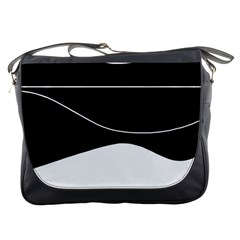Black and white Messenger Bags