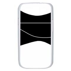 Black and white Samsung Galaxy S III Case (White)