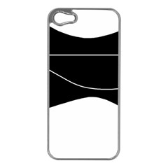 Black and white Apple iPhone 5 Case (Silver)