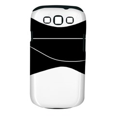 Black and white Samsung Galaxy S III Classic Hardshell Case (PC+Silicone)