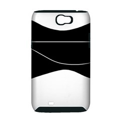 Black and white Samsung Galaxy Note 2 Hardshell Case (PC+Silicone)