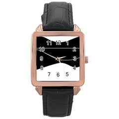 Black and white Rose Gold Leather Watch