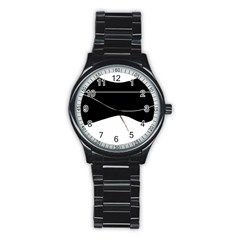 Black and white Stainless Steel Round Watch