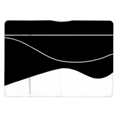 Black and white Samsung Galaxy Tab 10.1  P7500 Flip Case