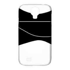 Black and white Samsung Galaxy S4 Classic Hardshell Case (PC+Silicone)