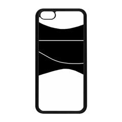 Black and white Apple iPhone 5C Seamless Case (Black)