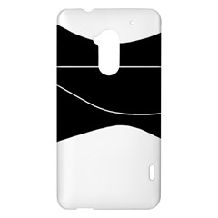 Black and white HTC One Max (T6) Hardshell Case