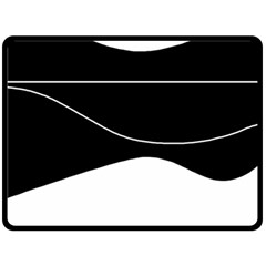 Black and white Double Sided Fleece Blanket (Large)