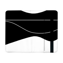 Black and white Samsung Galaxy Tab Pro 8.4  Flip Case