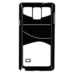 Black and white Samsung Galaxy Note 4 Case (Black)