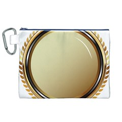 Gold Oval Badge Transparent Clip Art Canvas Cosmetic Bag (XL)