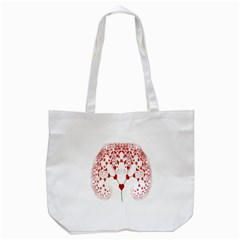 Heart Plant Fractal Tree Tote Bag (White)