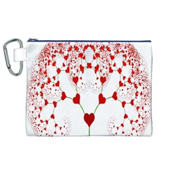 Heart Plant Fractal Tree Canvas Cosmetic Bag (XL)