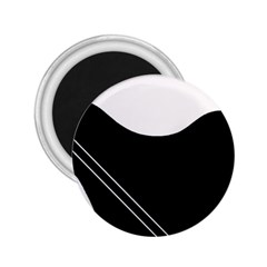 White and black abstraction 2.25  Magnets